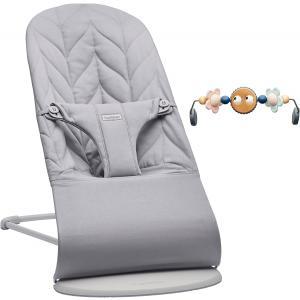 Babybjorn - 606024 - Transat Bliss assise Pétale Gris clair avec jouet (473216)