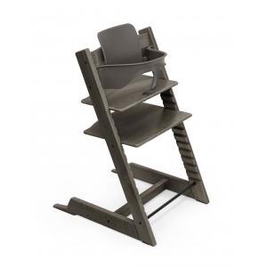 Stokke - BU429 - Chaise haute Tripp Trapp gris brume et Babyset (473230)