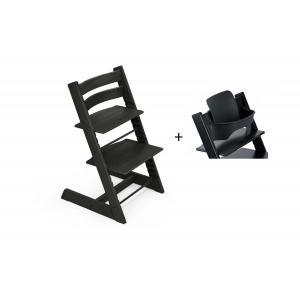 Stokke - BU435 - Chaise haute Tripp Trapp Chêne noir et Babyset (473242)