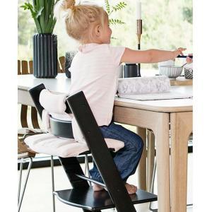 Stokke - BU445 - Chaise haute Tripp Trapp noir, coussin Nordic grey et babyset (473262)