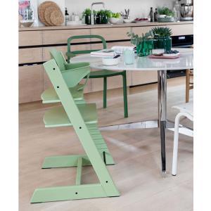 Stokke - BU460 - Chaise haute Tripp Trapp vert mousse, coussin Nordic grey et babyset (473292)