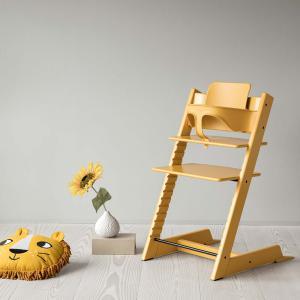 Stokke - BU468 - Chaise haute Tripp Trapp jaune, coussin Icon multicolor et babyset (473308)