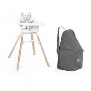 Stokke - BU478 - Chaise haute Stokke Clikk blanc et sac de transport (473538)