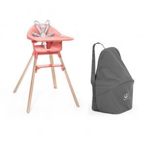 Stokke - BU479 - Chaise haute Stokke Clikk corail et sac de transport (473540)
