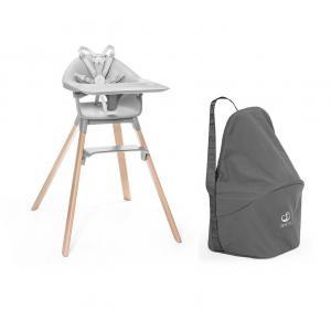 Stokke - BU480 - Chaise haute Stokke Clikk gris et sac de transport (473542)
