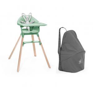 Stokke - BU481 - Chaise haute Stokke Clikk vert et sac de transport (473544)