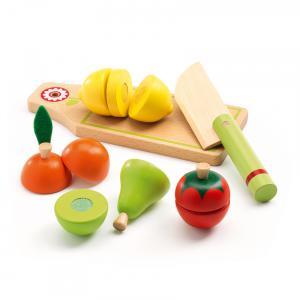 Djeco - DJ06526 - Imitation - Gourmandises -  Fruits et légumes à couper* (63869)