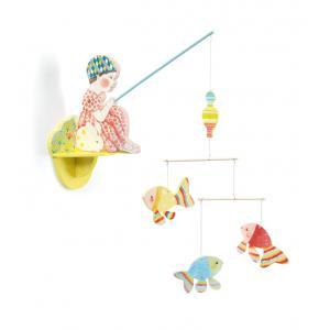 Djeco - DD04355 - Mobiles en bois illustrés - Petite fille à la pêche (63880)