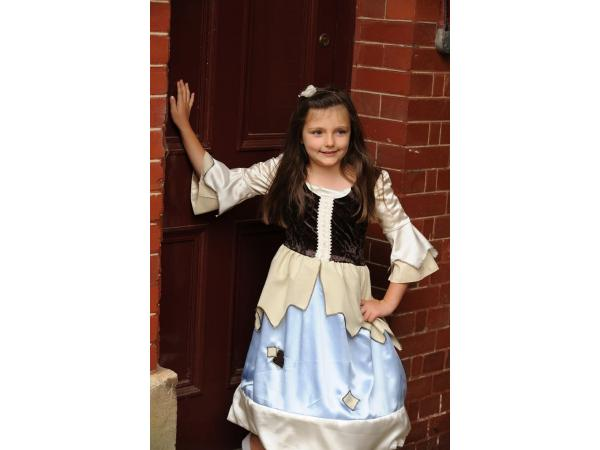 Costume reversible princess / pauper 2 in 1 blue/gold - 3 à 5 ans