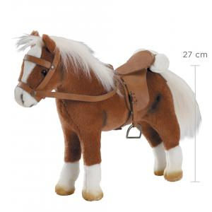 Gotz - 3401099 - Cheval en peluche, articules, 32x42 cm, selle et harnais, marron  (78423)