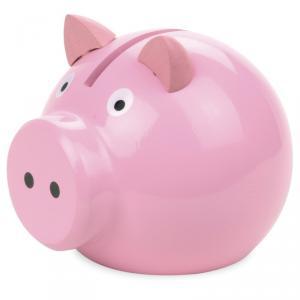 Vilac - 5113 - Tirelire cochon rose - à partir de 3+ - Origine France (89091)