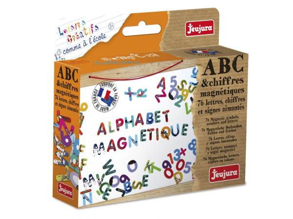 Abc et chiffres magnétiques les animaux - coffret de 76 caractères